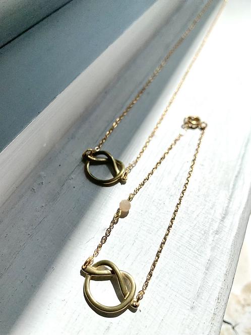 Pretzel Earring/Necklace/Bracelet  FNA72SET