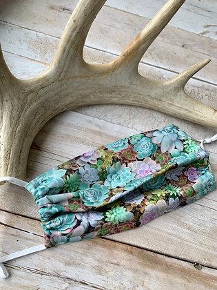 YOHAWKE Succulent Print Handmade Mask YH04