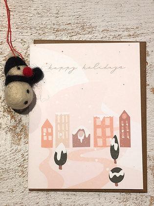 Happy Holidays Xmas card