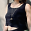 Thumbnail: Black Tassel Necklace FNA86