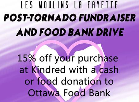 Post-Tornado Fundraiser & Food Drive for Ottawa Food Bank