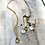 Thumbnail: Shell and Brass Loop Necklace  or Earrings FNA21SET