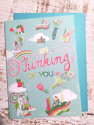 ERICALEWIS 'Thinking of You' Greeting Card CR08