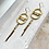 Thumbnail: Two Semi Circle Hammered Brass Earrings FEA55