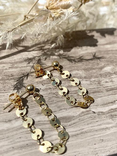>>>TORI - disc chain earrings<<<