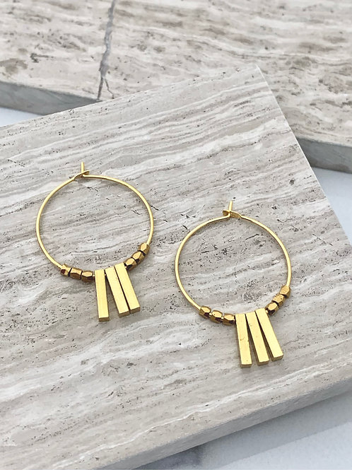 >>>KAI - brass bar earrings<<<