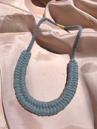 KNOT YOU KNOT ME Cam Cotton Necklace - Blue Sage