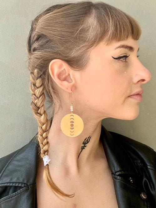 Moonphase Circle Earrings FEA26
