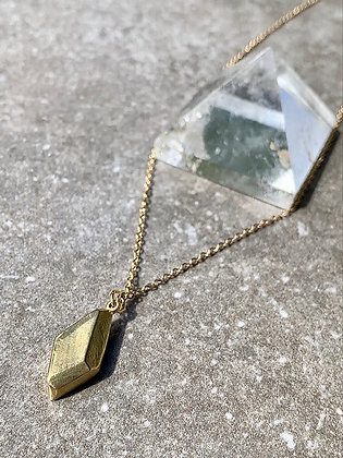 TAMARA STEINBORN HESTIA ~ Faceted Nugget Necklace in Bronze or Sterling