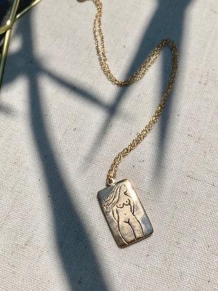 TAMARA STEINBORN 'Germaine' Bronze or Sterling Silhouette Necklace