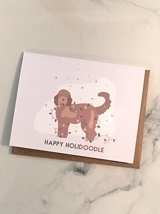 Happy Hollidoodle Xmas card