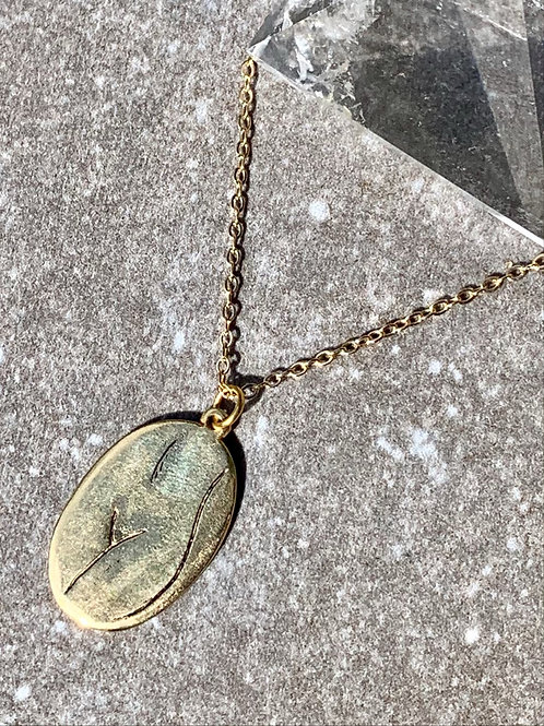 LUPE ~ Front Silhouette Necklace Bronze or Sterling