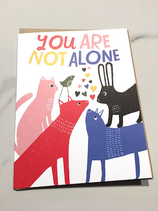 LISACONGDON 'Not Alone' Greeting Card CR22