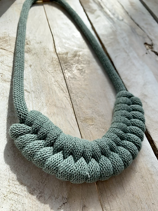 KNOT YOU KNOT ME 'Blue Sage' Zoe Fiber Necklace KYN03