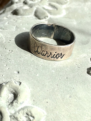 Worn by warriors sterling Warrior ring