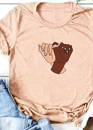 Pinky Swear T-shirt - Peach TS02