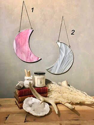 TAMARA STEINBORN Lge. Stained Glass Moons 1-2 (these do not ship)