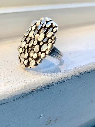 SERAGLIO Textured Circle Ring SGR50