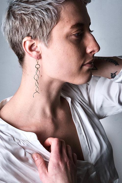 DEMETER ~ 14k Goldfilled or Sterling Wavy Earrings