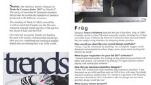 Trends Magazine Interviews Früg Jewellery Designer, Tamara Steinborn, for Aug. 2017 Issue