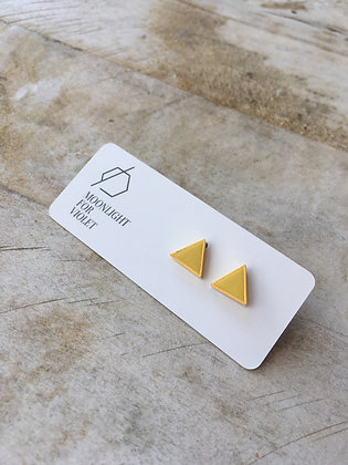 MOONLIGHT FOR VIOLET 'Yellow' Triangle Earrings MVT03