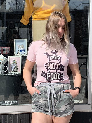"""""""Friends Not Food"""" T-Shirt - Baby Pink TS13"""