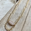 Thumbnail: Double Strand Necklace with Rose  Quartz Pendant FNA12