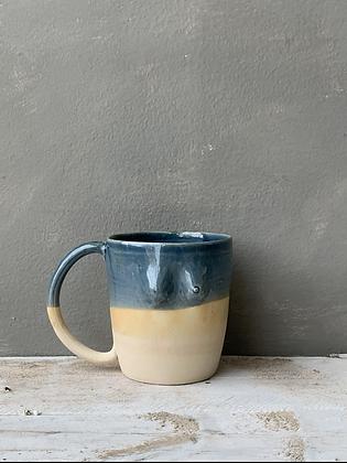 MOSELLE ANDERSON Blue + Beige Ombré Boob Mug BOOB14