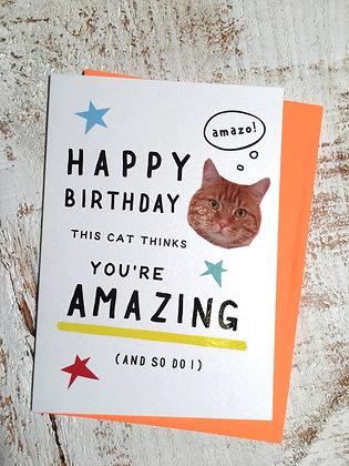 HORSEFINGER 'You're Amazing' Birthday Card CR35