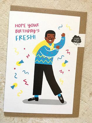 Hope Your Birthday's 🎂 Fresh (Prince)! card CR55