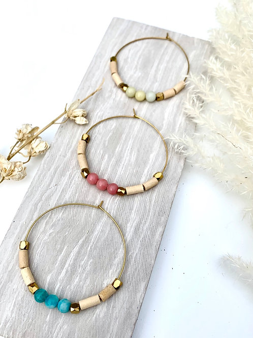 >>> SAWYER - Vintage Bead Hoops <<<
