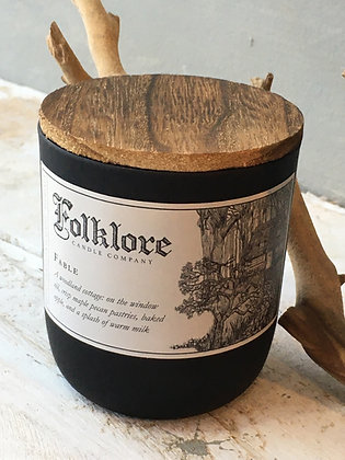Folklore Fable soy wax candle made in Ontario Canada