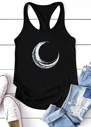 Crescent Moon Tank Top - Black TT03