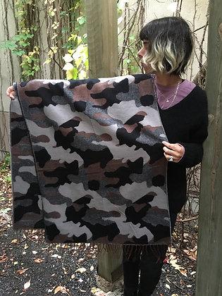 Cozy large scarf camo print ottawa Wellington fall winter