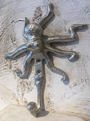 Aluminum hook octopus cute coat hang wall decoration