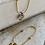 Thumbnail: SOUVENIR 'Hinged Hoops' Brass Earrings SVE18