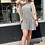 Thumbnail: Small Flower Printed Shirring Ruffle Dress - Black DR10
