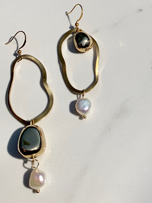 Frug jewellery made in Canada mismatch pearl earrings