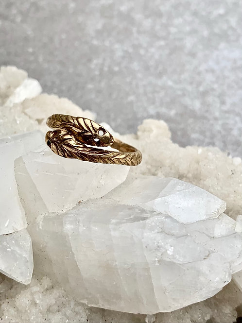 VENUS ~ Double Snake Ring in Bronze or Sterling