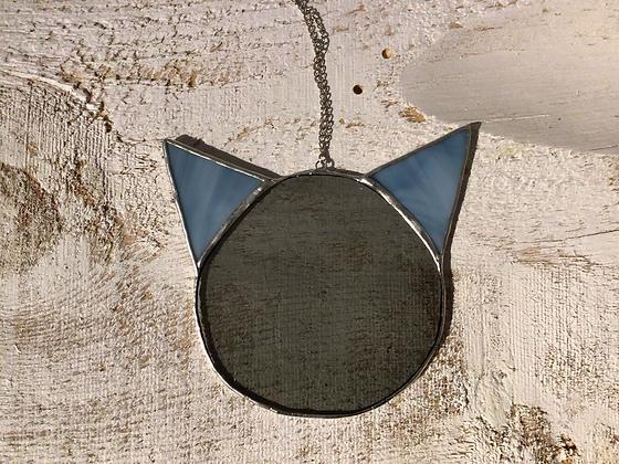 TAMARA STEINBORN - smokey + blue - cat head