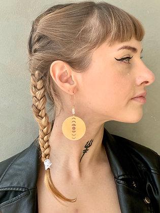 FRÜG Moonphase Earrings FEA26