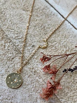 FRÜG  Opal Pendant + Crescent Moon Necklace FNA06