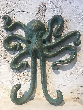Octopus decor coat hook cast iron gift ottawa Wellington