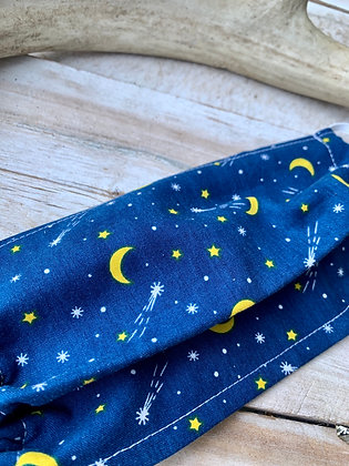 YOHAWKE Blue Moon + Stars Handmade Mask YH07