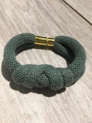 KNOT YOU KNOT ME 'Blue Sage' Chunky Knotted Bracelet KYB02