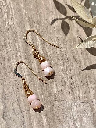 Moonstone earrings gold earrings cute earrings made in ottawa Wellington