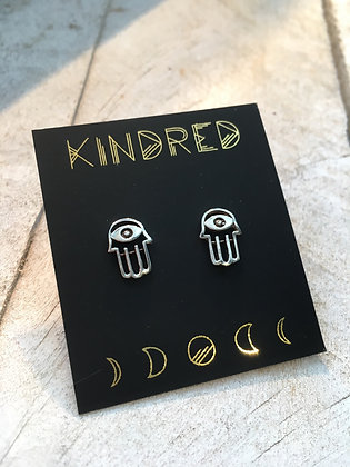 KINDRED 'Sterling Hamsa' Earrings KDE21