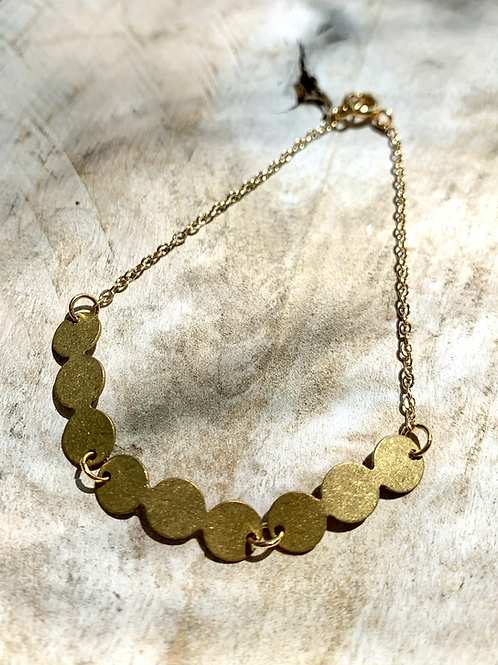 Bracelet with Circular Brass Detail FBA13