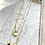 Thumbnail: Double Strand Necklace with Brass Beads FNA100