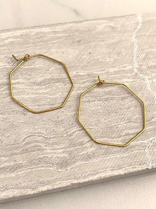 FRÜG Hex Brass Wire Hoops